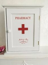 Pharmacy Wooden Wall Cabinet Retro Storage Bathroom Medicine First Aid Cupboard