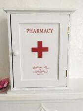 Retro First Aid Kit Box Wooden Cabinet Vintage Storage Bathroom Shabby Chic