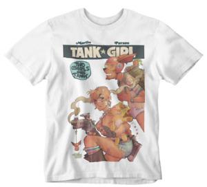 TANK GIRL T-SHIRT 80S 90S CARTOON PUNK WAR TEE ATTITUDE FUNNY KANGAROO DRINK