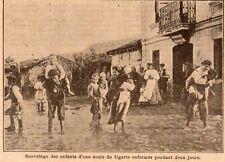 UGARTE INONDATION SAUVETAGE DES ENFANTS D UNE ECOLE FLOOD IMAGE 1910 PRINT