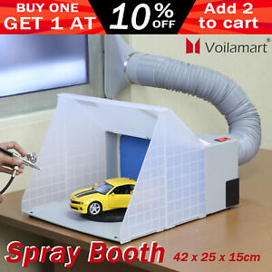 Airbrush Spray Booth Portable Hose Filter Extractor Air Brush Art Paint Craft