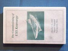 VHS THE COMMISSIONING OF USS KEARSARGE OCTOBER 16, 1993 INGALLS SHIPYARD PASCAGO