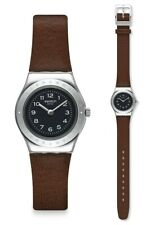 Swatch Chataigne Watch YSS322 Analog Leather Braun