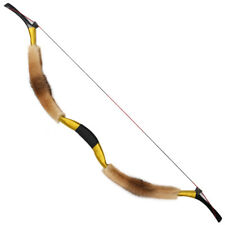20-50lbs Traditional Fox Fur Archery Recurve Bow Handmade Hunting Horse Longbow