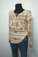 30% Rabatt Boysens Bluse Tunika im Folk-Style Longshirt weiß koralle Gr. 34 - 40
