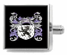 Jones England Family Crest Surname Coat Of Arms Cufflinks Personalised Case