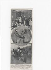 1915 WWI Photo print WOMEN COAL-HEAVERS IN SCOTLAND. Home Front/Civil Defence