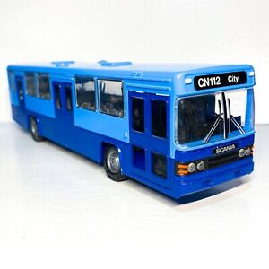 💎RARE💎NZG #293 Scania CN112 Silent City Bus Two Toned Blue 1986 1:50 NIB