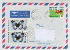 Cameroun, Kamerun, Luftpost Brief nach Ulm, 1980