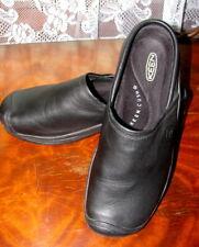KEEN CUSH OIL & SLIP RESISTANT Leather Work Clogs, Women's Size 10M, Black NEW