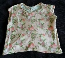 Delia's Shirt size XS extra small - light pink/flowers/roses/ruching on back