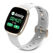 Smart Watch Silica Gel Square Waterproof Full Screen Touch Fitness Tracker Band