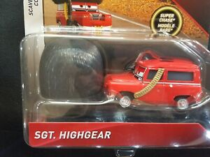 DISNEY PIXAR CARS SGT. HIGHGEAR SUPER CHASE DELUXE 2018 SAVE 6% GMC