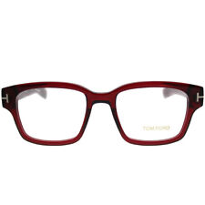 Tom Ford TF5527 066 Burgundy Dark Red Bold Plastic Eyeglasses 50-18-145 FT5527