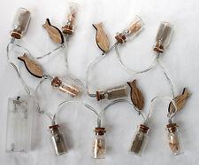 CADENA DE LUCES LED 100cm con conchas en vidrio y peces funciona con baterías