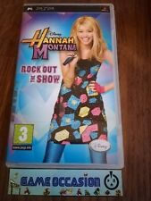 HANNAH MONTANA ROCK OUT IL SHOW DISNEY PSP SONY PLAYSTATION PORTATILE COMPLETO
