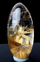 Natural Clear Quartz Sunflower Titanium Rutilated Crystal Pendant  Specimen