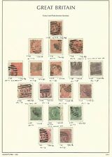 Great Britain Stamp Collection on Lighthouse Page 1865-73, #43/61 Scv $1422