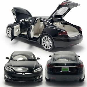Tesla Model S 100D 1/32 Model Car Diecast Kids Gift Toy Vehicle Pull Back Black