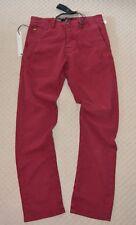 New G-Star Bronson Slim Chino Comfort Pivot Twill Chateaux Red Khakis 81910 W31
