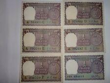 INDIA PAPER MONEY- 11  'ONE RUPEE'  OLD NOTES - 1971-1992 - RARE - 8 SIGNATORIES