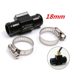 CNC Motorcycle Water Temperature Sensor Adapter Plug Pipe Tee Connector 18mm 1x