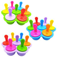 7 Hole Popsicle Frozen Large Size Silicone Ice Cube Mold Round Ball Tray Mould