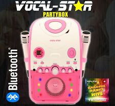 VOCAL-STAR CDG DISC & BLUETOOTH KARAOKE MACHINE 2 MICROPHONES 40 SONGS (PBP) XD