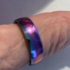 Thumb thumb ring ring rainbow stainless steel/multi colour unixsex