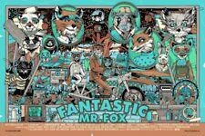 Fantastique Mr Fox variante Movie Poster Mondo artiste Tyler Stout #/300 NT