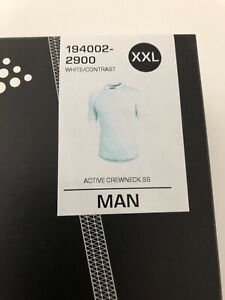 Men's Craft Be Active Short Sleeve Base Layer White XXL 2XL RRP £30