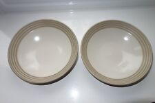 Denby Intro Stripes Blue  - Two Soup or Cereal Bowls Unused.