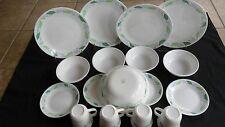 LOT OF 20 pcs. VINTAGE  CORELLE CORNING WARE SPEARMINT-Plates Bowls Cups & More