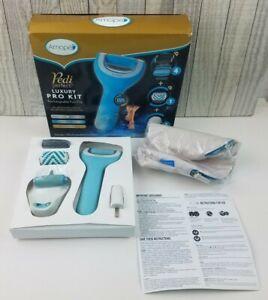 Amope Pedi Perfect Luxury Pro Kit Rechargeable Foot File Waterproof New Open Box