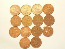 🍁 1994 to 2000 Great Britain 2 New Pence Lot of 14 Coins   #4490