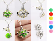 Harmony Ball Pendant Lockets Essential Oil Perfume Diffuser Necklace Flower