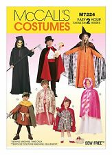 McCalls Easy 2 Hour SEWING PATTERN M7224 Childrens Cape & Tunic Costumes 2-12