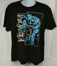Marvel Mens Venom Graphic T-Shirt, Black Large