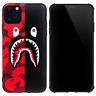 A Bathing Ape Bape Shark Black Red Camo Case For Apple iPhone 11 Pro Max XR XS