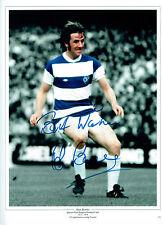 Stan BOWLES Signed Autograph Queens Park Rangers Legend 16x12 Photo AFTAL COA
