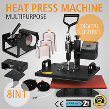 8IN1 38x30cm Transferpresse Hitzepresse Maschine T-Shirtpresse Digitale 1400W