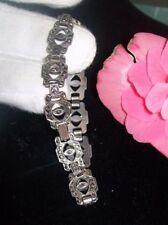 """Vintage Sterling Silver Marcasite 925 Tennis Bracelet 7.5"""" Signd """"sterling"""""""