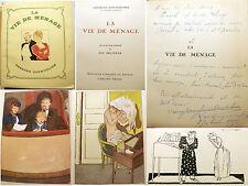 COURTELINE/LA VIE DE MENAGE/GRUND/1949/ZIG BRUNNER ILLUSTRATEUR/ENVOI DE MME