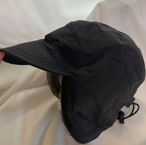 Vintage LL Bean Fleece Lined Goretex Winter Hat Ear Flaps Made In USA Large mens