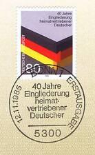 RFA 1985: Inscription Déplacées N° 1265 avec Bonner Estampille! 1A! 156