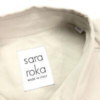 Sara Roka Women's Cotton Dress Button Up Khaki Tan • Italy • Size 44