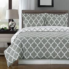 Reversible Meridian Duvet Cover Sets, Contemporary 100% Egyptian Cotton Bedding