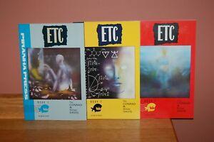 "Set of 1989 Piranha Press ""ETC"" (1-3) Mature Adults Only Comic Book Miniseries"