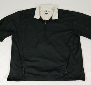 Nike Golf Short Sleeve Black Pullover Windbreaker Jacket Shirt Mens XL Climafit