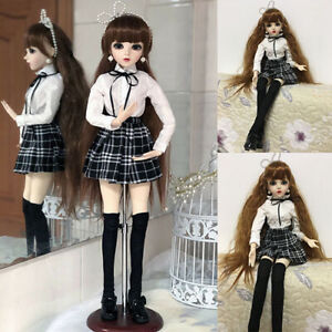 60cm 1/3 BJD Doll Ball Jointed Dolls with Eyes Face Make up DressShoes Full Set